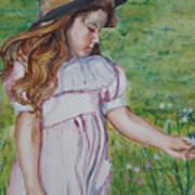 Girl In Straw Hat Art Print