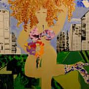 Girl In The City Art Print
