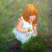 Girl In The Meadow Art Print