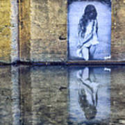 Girl In The Mural Art Print