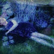 Girl In The Pool 12 Art Print