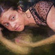 Girl In The Pool 13 Art Print