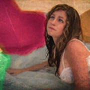 Girl In The Pool 4 Art Print
