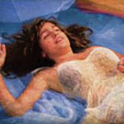 Girl In The Pool 5 Art Print