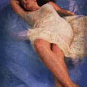 Girl In The Pool 6 Art Print