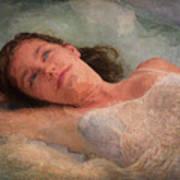 Girl In The Pool 8 Art Print