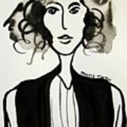 Girl In Vest Art Print