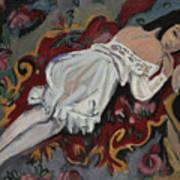 Girl In White Chemise Art Print