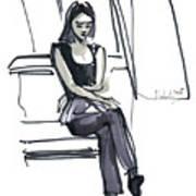 Girl Near The Window Art Print