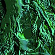 Girl Of Green Art Print