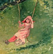 Girl On A Swing Art Print by Winslow Homer