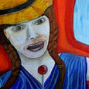 Girl On A Train Art Print