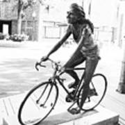 Girl On Bike Sculpture Grand Junction Co Art Print