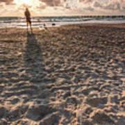 Girl On The Beach Art Print