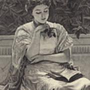 Girl Reading Art Print