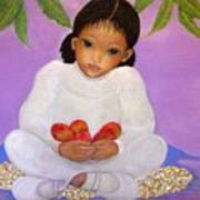 Girl Sitting Under Mango Tree Art Print