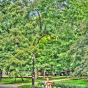 Girl Uninterrupted In Central Park Art Print