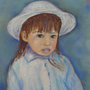 Girl With A Hat Art Print