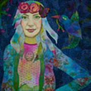 Girl With Kaleidoscope Eyes Art Print