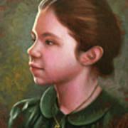 Girl With Locket Art Print