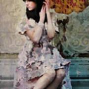 Girl With Parasol Print by Elena Nosyreva