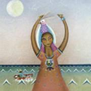 Girl With Sea Art Print