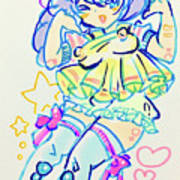Girl04 Art Print