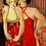 Girlfriends Art Print