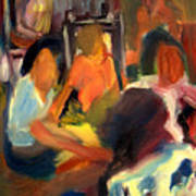 Girls Meeting Art Print
