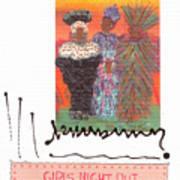 Girls Night Out Art Print