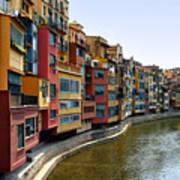 Girona Riverfront Art Print
