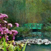 Giverny Bridge Art Print