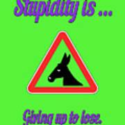 Giving Up Bigstock Donkey 171252860 Art Print