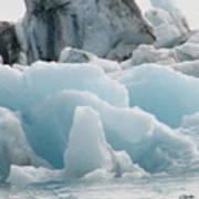 Glacial Lagoon Iceland Art Print