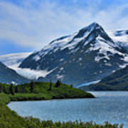 Glacier Alaska Lake  Art Print