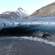 Iceland - Glacier Ice Cave 'entrance' #1 Art Print