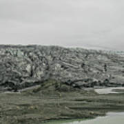 Glacier In Iceland Art Print