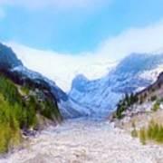 A Glacier In Mt. Rainier Art Print