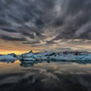 Glacier Lagoon Art Print