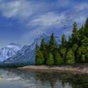 Glacier Naional Park Art Print