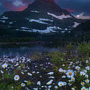 Glacier National Park At Dawn Art Print