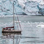 Glacier Sailing Art Print