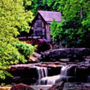 Glade Creek Grist Mill 004 Art Print