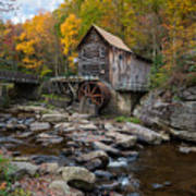 Glade Creek Grist Mill Babcock State Park Art Print