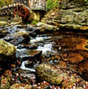 Glade Creek Grist Mill Fall  Art Print
