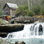 Glade Creek Grist Mill In Color Art Print