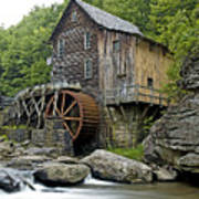 Glade Creek Grist Mill Located In Babcock State Park West Virginia Art Print by Brendan Reals