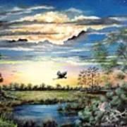 Glades  Afterglow Art Print