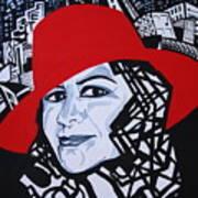 Glafira Rosales In The Red Hat Art Print