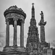Glasgow Necropolis Graveyard Memorials Art Print